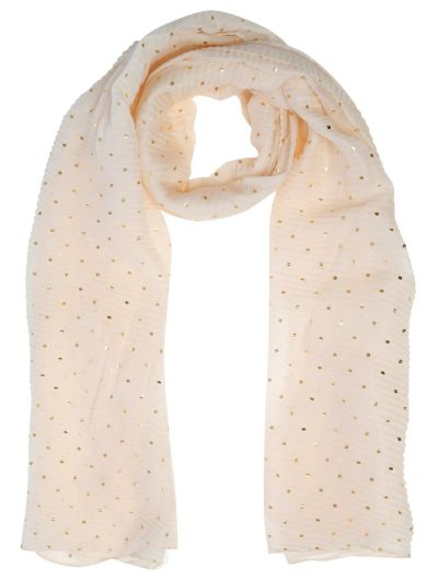 Mandco Scarf Pleated Gold Foil