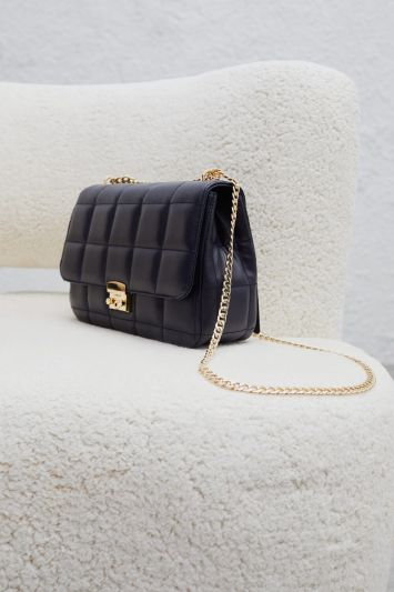 Perspective Gold Chained Bag Black