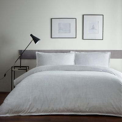 J by Jasper Conran Off-White Cotton 'Fleck' Space Dyed Duvet Cover