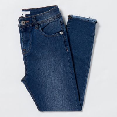 bluezoo Girls' Blue Mid Wash Jeans