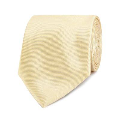The Collection Gold ribbed silk tie