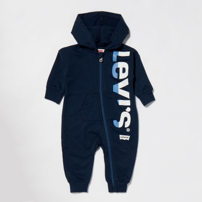 Levi's Baby Boys' Blue 'Play All Day' Print Coverall