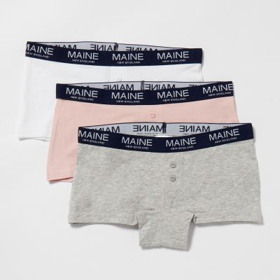 Maine New England 3 Pack Girls' Assorted Boxer Shorts