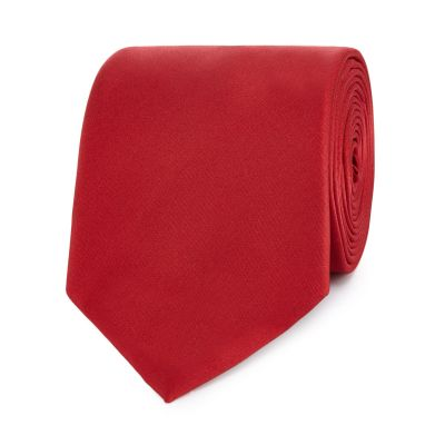 The Collection Red Slim Tie