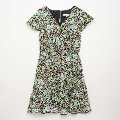 bluezoo Girls' Multicoloured Floral Print Woven Dress