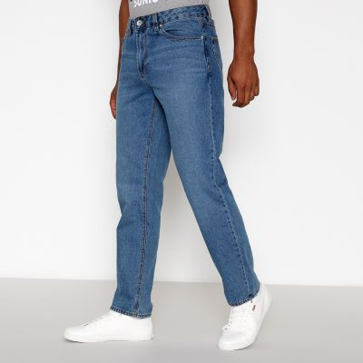 Red Herring Blue Mid Wash Straight Fit Jeans
