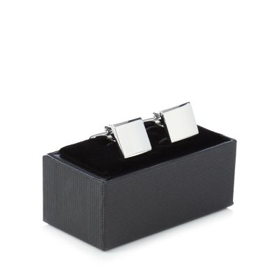 The Collection Silver Square Cufflinks In A Gift Box