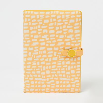 J by Jasper Conran Yellow Animal Print A5 Lined Notebook