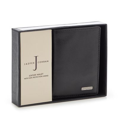 J by Jasper Conran Black Leather Data Protection Wallet