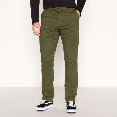 Red Herring Khaki Straight Fit Trousers