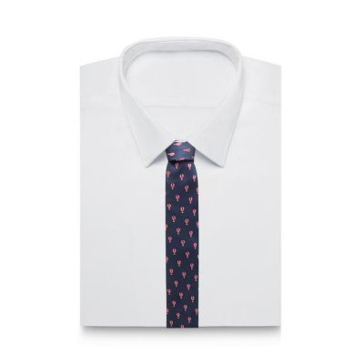 The Collection Navy Hot Air Balloon Embroidered Tie