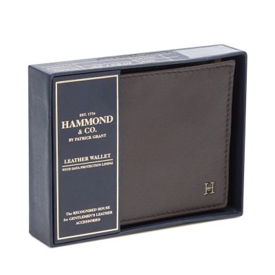 Hammond & Co. by Patrick Grant Brown Leather Slim Wallet