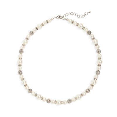 Phase Eight Silver Parma Pearl and Crystal Necklace