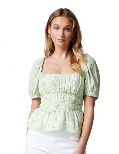 Forever New Melody Rouched Waist Blouse