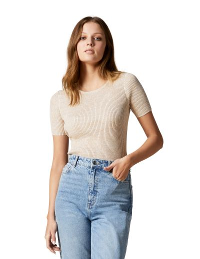 Forever New Audrey Crew Neck Knit Tee