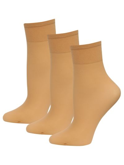 Mandco 3 PACK 10 DENIER ANKLE  ONE SIZE