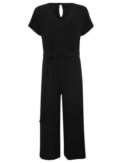 Mandco JUMPSUIT CROPPED RIB SS